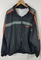 Vintage Reebok Mens Windbreaker Jacket Size XL Extra Large Lightweight Black 90s