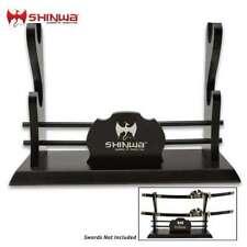 Shinwa Deluxe 2 Tiers Table Samurai Katana Sword Display Stand Holder Mount New