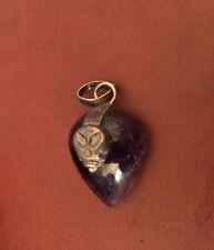 Alien/Skull Amethyst Pendant in Sterling Silver..Unusal and Fun Piece