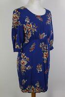 JOULES Ladies WICKMERE Blue Floral Pattern DRESS - Size UK 10 - US 6 - EU Small