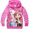 Frozen Hoodie Girls Jacket Zipped Jumper  Elsa  pink  2 3 4 5 6 yr UK STOCK