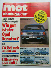 MOT Auto journal Nr 13/1978, Opel Senator 3.0E, Volvo 264GLE, BMW 528i
