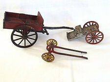 3 Antique Cast Iron Toy Farm Wagons One wagon Patented in 1880