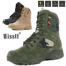 Men Work Boots Military Tactical Army Combat Patrol Outdoors Ankle Camping Boots
