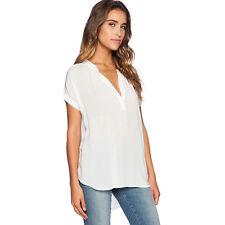 Womens Ladies Chiffon Blouse Jumper V Neck Tops Shirt Casual Loose T-shirt Tee