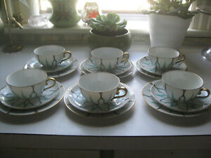 Antique Rosenthal Art Deco Nouveau Tea Cups Side Plates 1920s Rare 25 Pieces