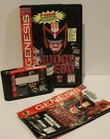 Judge Dredd (Sega Genesis,1995) COMPLETE Classic Game w/ CASE & MANUAL - TESTED