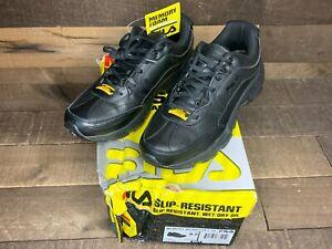 Fila Men's Memory Workshift SR Work Slip Resistance Shoes Black US Size 9.5 NEW