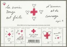 Timbres rouge avec 5 timbres