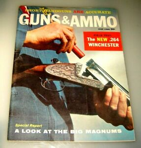 GUNS & AMMO Magazine June 1960 Vintage Original Majestic Sporter RIFLE,FERGUSON'