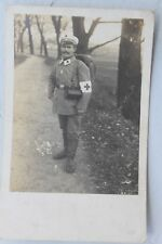 30229 Foto Soldat deutscher Sanitäter im 1. Weltkrieg 1915 Rot Kreuz