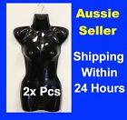 2x NEW MANNEQUIN Display TORSO Female GLOSSY BLACK BLACK