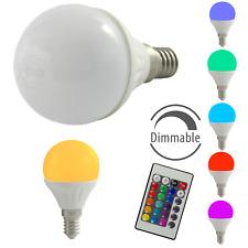 LED Glühbirnen Tropfen 4W E14 RGB Glühlampen Glühlampe Kugel warmweiß dimmbar
