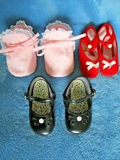 Baby Shoes size 6 - 9 months Plus a pair of cloth slippers & Booties All Clean