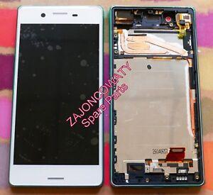 GENUINE WHITE SONY XPERIA X F5121 F5122 FHD IPS LCD SCREEN DISPLAY FRAME