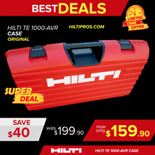 HILTI CASE FITS TE 805 / 905 /1000 , BRAND NEW, HEAVY DUTY,FAST SHIPPING