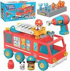 Educational Insights Design & Drill Bolt Buddies Fire Truck Toy Take Apart To...
