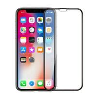 For iPHONE X / XS - TEMPERED GLASS SCREEN PROTECTOR CURVED EDGE FULL COVER HD