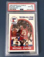 POP 1 of 11 - 1989 Hoops All Star Panels Perforated Michael Jordan PSA 10