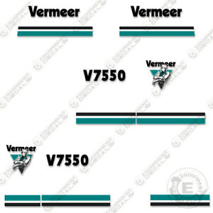 Vermeer V7550 Trencher Decal Kit (V-7550) Replacement Stickers - 7 Year Vinyl