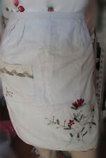 High quality  linen cotton beige half waist apron