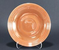 Fire King Peach Luster 3 Band Saucer