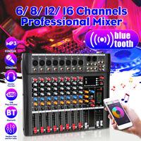 bluetooth 6/ 8/ 12/ 16 Channels Live Studio Audio Sound Mixer USB Console Stage