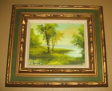 CANVAS LANDSCAPE PAINTING With FRAME Signed