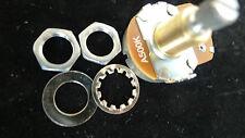 "3pcs Original Alpha Full Size 24mm A-500k 3/8"" 9.5mm Copper Rotary Potentiometer"
