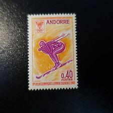 ANDORRE FRANÇAIS N°187 JEUX OLYMPIQUES D'HIVER GRENOBLE 1968 NEUF ** MNH