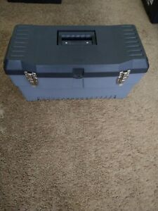 """Stack - On 23"""" Tool Box Case Bag Multi-Purpose Lockable Storage Box With Tray"""