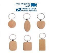 Personalised Engraved Wooden Keyring Keychain Keepsake Key Chain Wood Key Fob