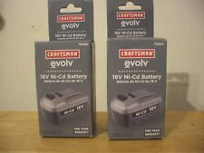 (2) Craftsman evolv 18V 18 Volt Ni-Cd Batteries - 930864 30864 -BRAND NEW!