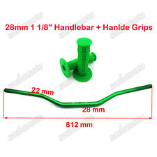 ATV Quad Green 1 1/8'' 28mm Fat Bar Handlebar Throttle Hand Grips Pit Dirt Bike