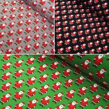 Cotton Jersey Fabric Father Christmas Santa Claus Xmas Festive Elastane Stretch