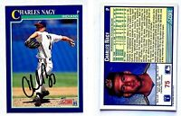 Charles Nagy Signed 1991 Score #75 Card Cleveland Indians Auto Autograph