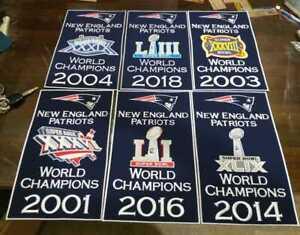 "New England Patriots Super Bowl World Champions 14"" x 8.5"" Banners"
