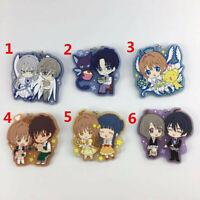 Anime Card Captor Sakura rubber Keychain Key Ring Race Straps Schlüsselanhänger