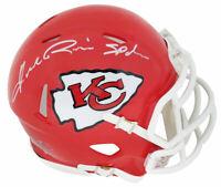 Andre Rison Signed KC Chiefs Riddell Speed Mini Helmet w/Spiderman -SCHWARTZ COA