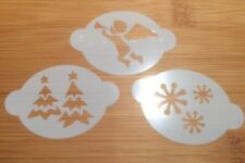 Face paint stencils christmas trees angel and snowflakes Mylar 2.5  x 1.75in