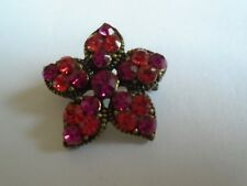 Flower Brooch With Pink Stone's