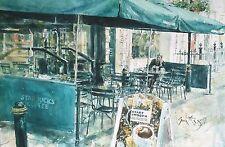 "RARE Nuovo Superbo ORIGINALE GORDON King ""mattina"" di caffè Starbucks CAFE PITTURA"