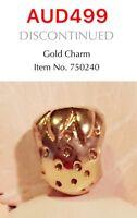 GENUINE PANDORA 14K GOLD STRAWBERRY CHARM, 750240
