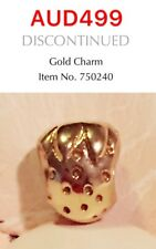GENUINE PANDORA 14K GOLD STRAWBERRY CHARM, 750240