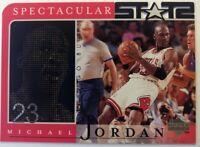 1998 98 Upper Deck Spectacular Stats Michael Jordan #21, Die Cut, Chicago Bulls
