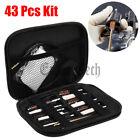 43Pcs Universal Gun Cleaning Kit Rifle Pistol Shotgun Firearm Brush Cleaner Set