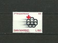 San Marino 1976  21th Olympiad, Montreal  MNH