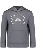 Under Armour Boys' Big Logo Hoodie Graphite 6