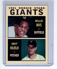 Willie Mays & Hoyt Wilhelm '51 New York Giants rookie stars Pastime series #4