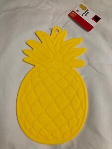 Yellow Pineapple Silicone x 2~ Pot Holder Kitchen Trivet~FREE GLOBAL SHIP!
